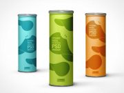Cylindrical Tube Chip Packaging PSD Mockup