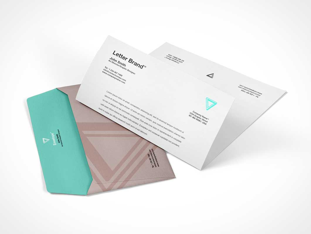 Envelope Letter PSD Mockup Corporate Branding