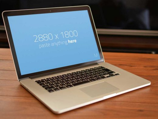 Free MacBook PSD Mockups Without Toolbar
