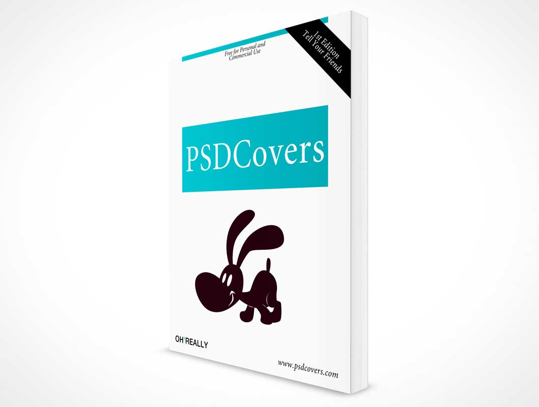 Front Cover Softcover Book PSD Mockup