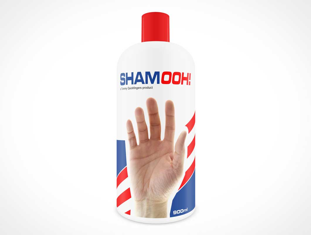 Generic Bottle PSD Mockup For Shampoo Or Conditioner