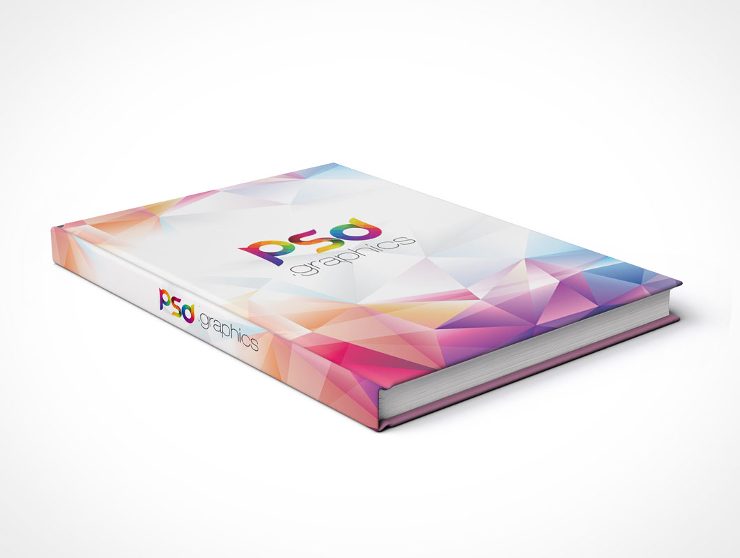 Hardcover Closed Book PSD Mockup Steep Angle