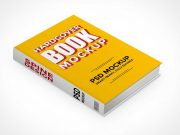 Isometric Hardcover Book PSD Mockup Laying Flat