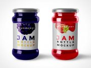 Jam Bottle PSD Mockup With Twist Lid
