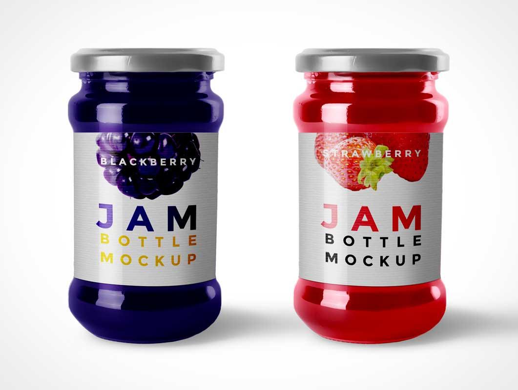 Jam Bottle PSD Mockup With Twist Lid