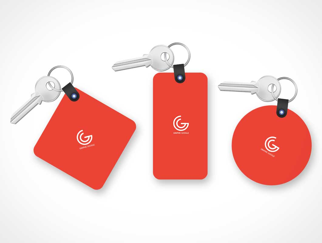 Key Tags PSD Mockup