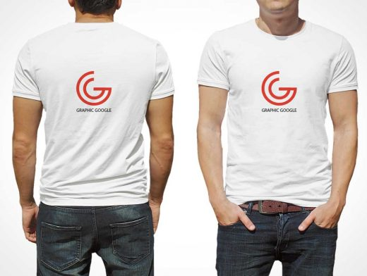 Men's T-Shirt PSD Mockup For Logo Branding