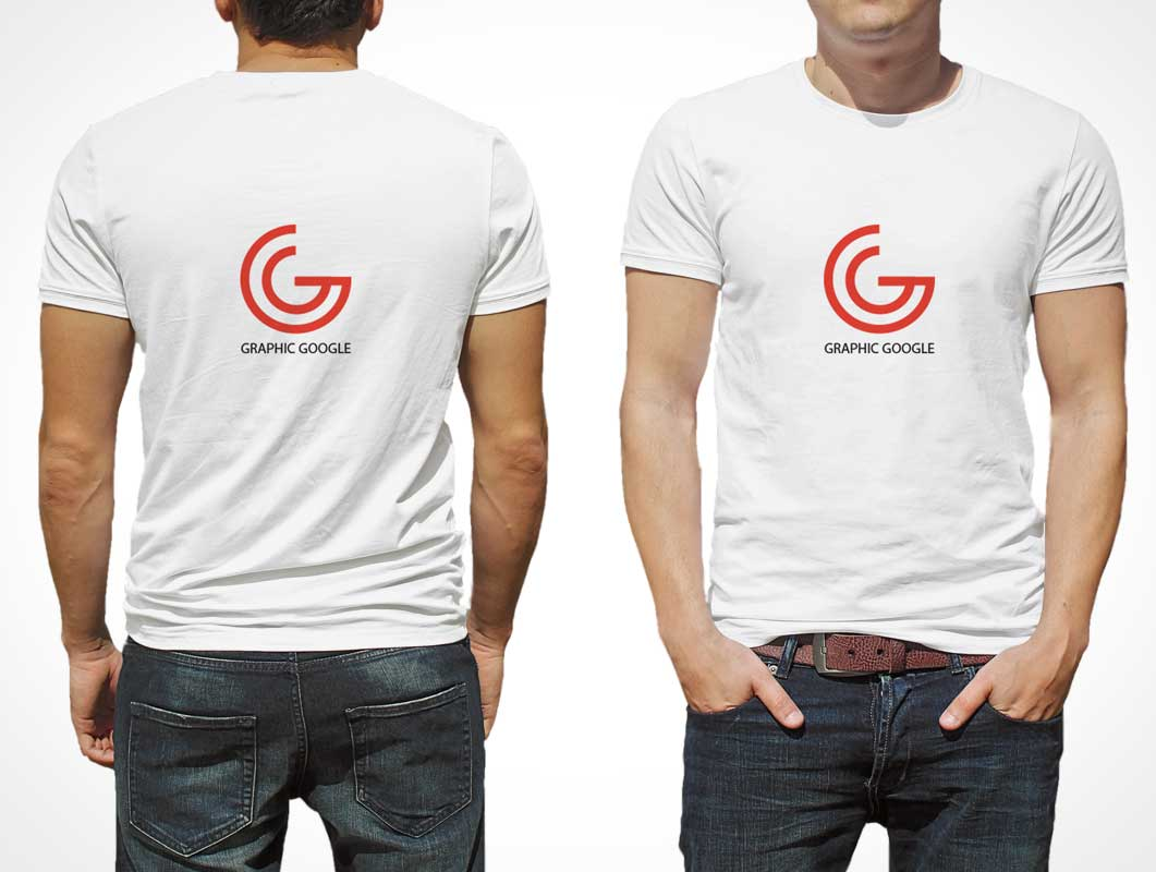 T shirt white mockup - Men S T Shirt Psd Mockup For Logo Branding