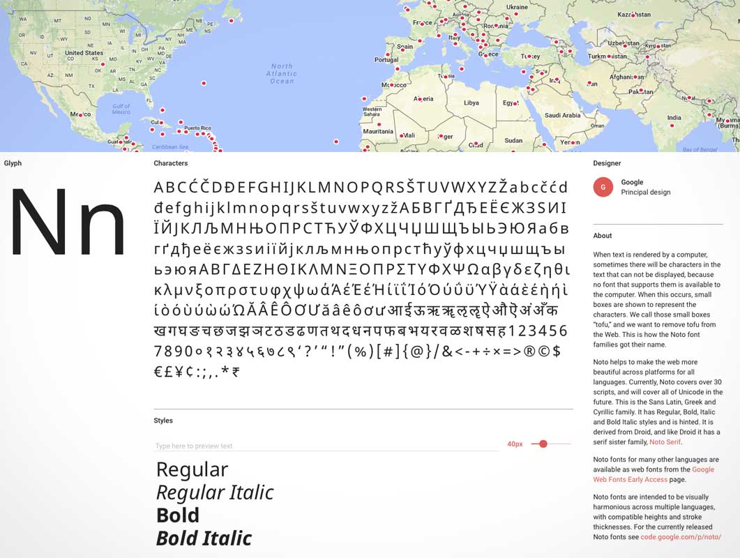 Noto: Beautiful and free fonts for all languages