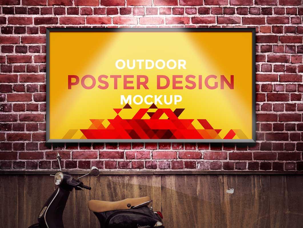 Poster design psd - Outdoor Poster Design Psd Mockup