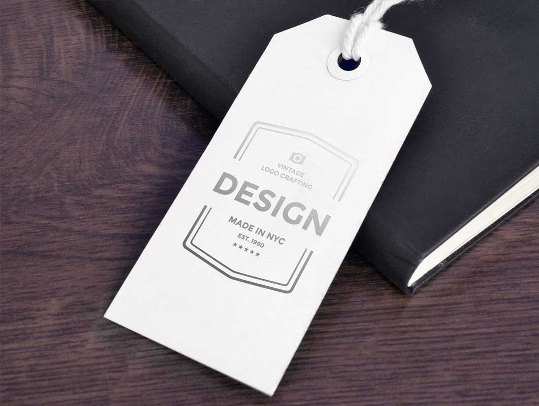 Paper Tag Label PSD Mockup Pricing Stationery