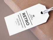 Paper Tag PSD Mockup Product Label and String