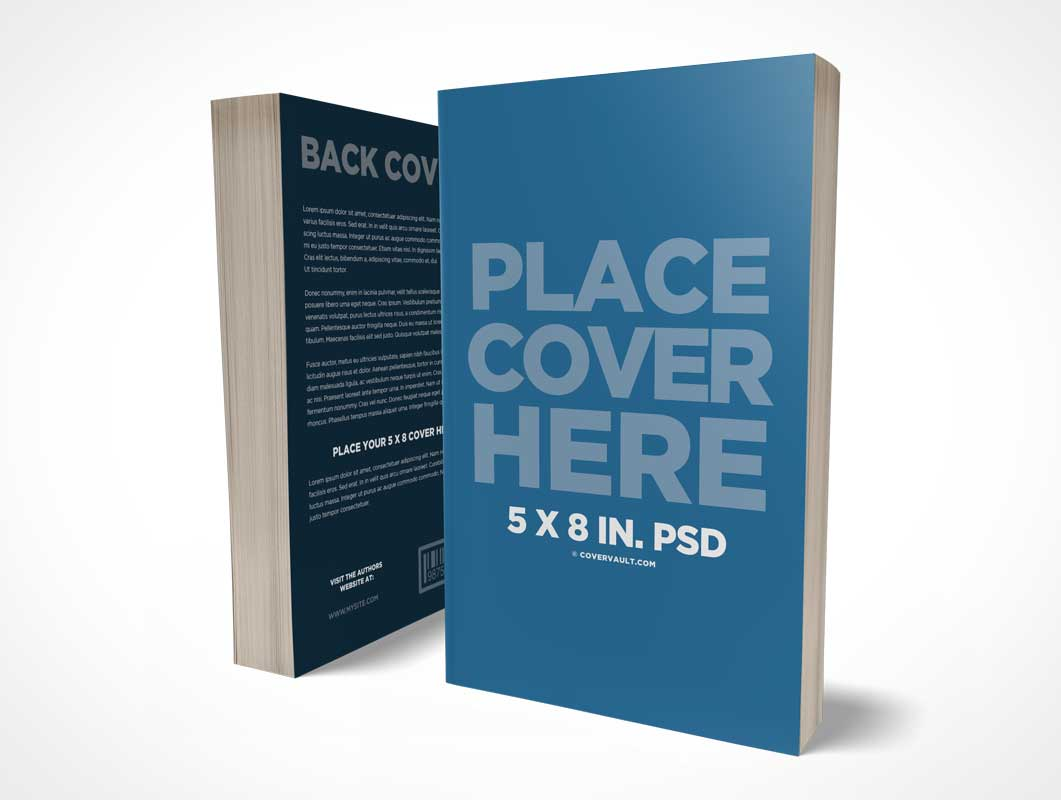 Paperback Front And Back Cover Book PSD Mockups