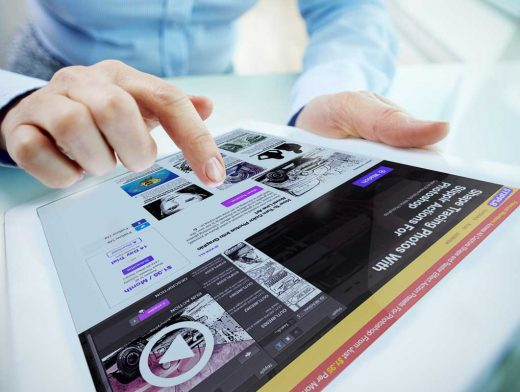 Person Using iPad PSD Mockup With Hands