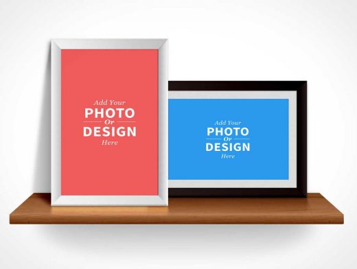 Photo Frames PSD Mockup Landscape and Portrait Mode
