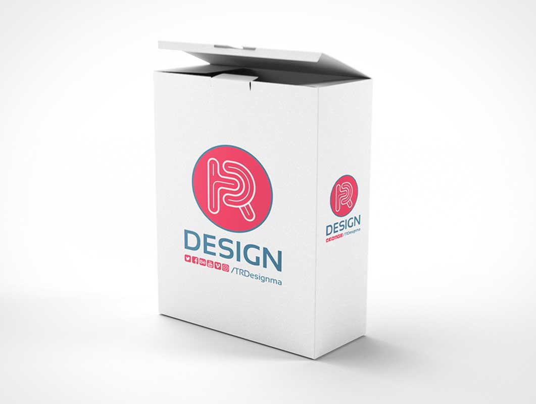 Realistic Box PSD Mockup Software Packaging