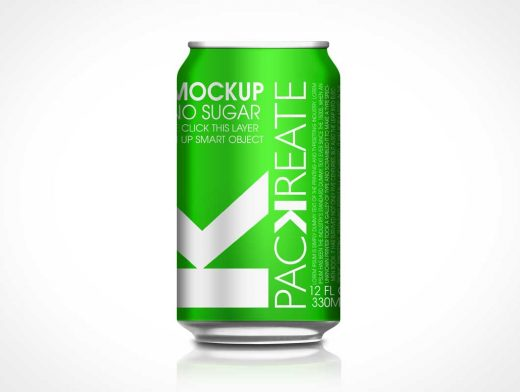 Soda Can PSD Mockup Side View