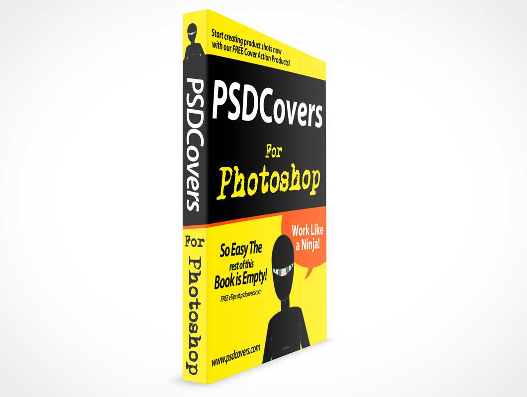 Softcover Book And Spine PSD Mockup Facing Forward
