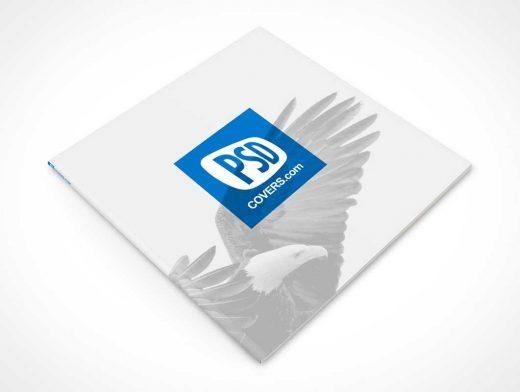 Square Brochure Softcover PSD Mockup Magazine