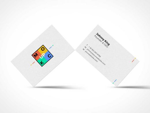 Standing Business Card PSD Mockup