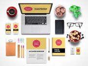 Stationery Branding And Corporate Identity PSD Mockup