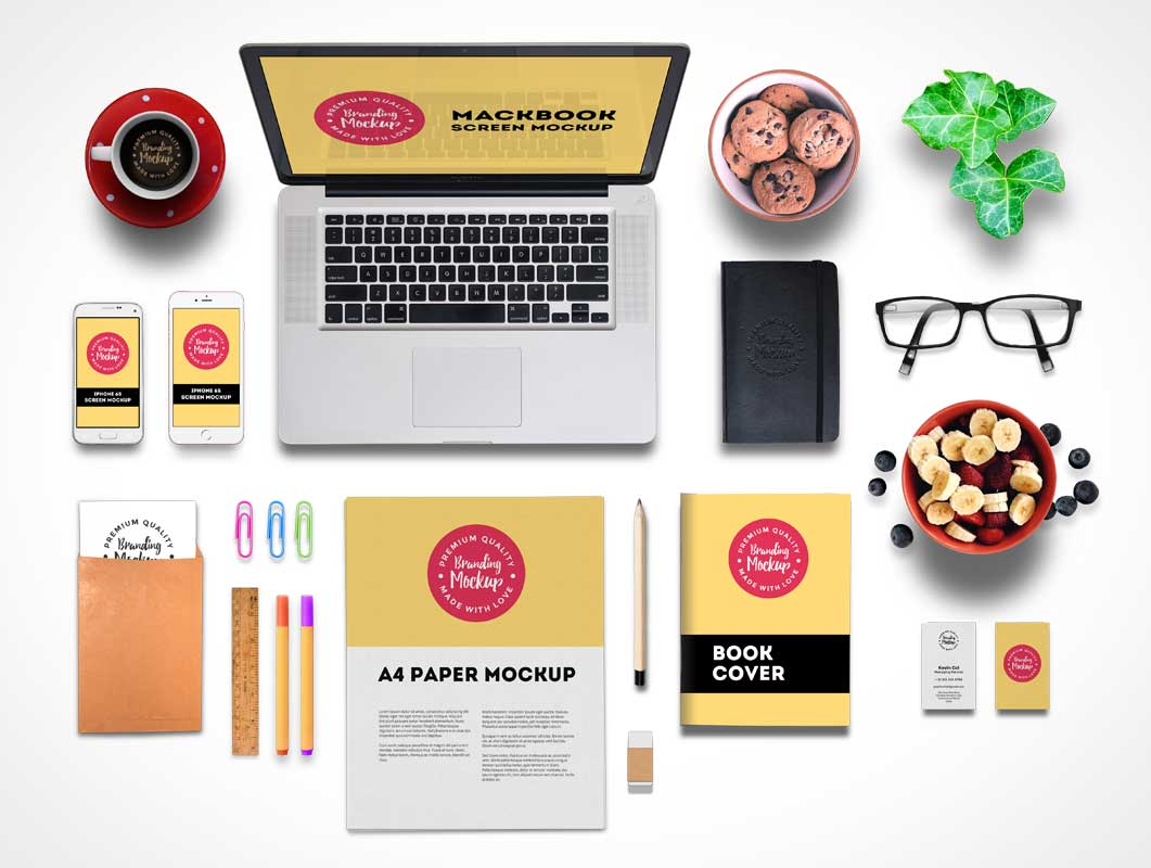 stationery branding and corporate identity psd mockup - psd mockups, Powerpoint templates