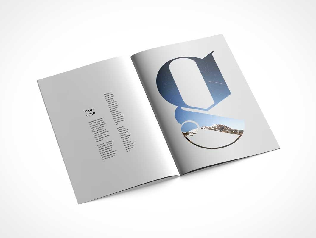 Tabloid Brochure PSD Mockup