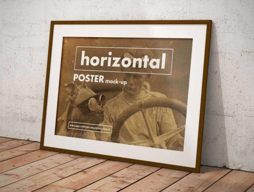 Vintage Posters Frame PSD Mockup