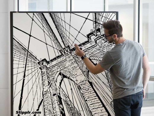 Whiteboard Scene PSD Mockup