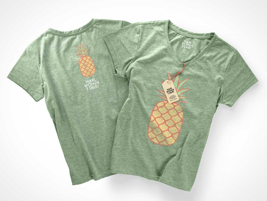 Tshirt psd mockups for T shirt mockup front and back