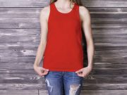 Woman's Tank Top PSD Mockup