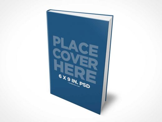 6 x 9 Hardcover eBook PSD Mockup