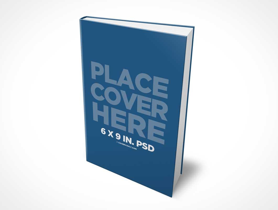 6 x 9 Hardcover eBook PSD Mockup