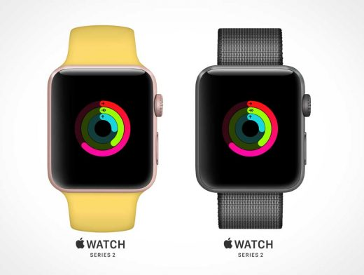 Apple Watch Series 2 PSD Mockup