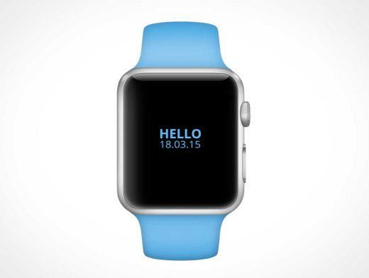 Apple iWatch PSD Mockup With Wrist Band