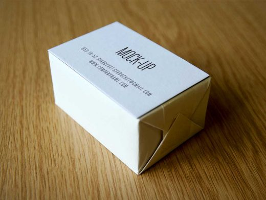 Business Card Box PSD Mockup