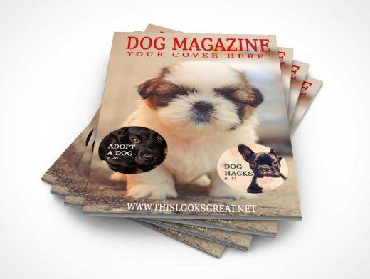 Cascading Magazine Stack PSD Mockup