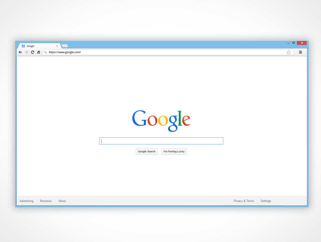 Chrome Browser Window PSD Mockup For Mac And PC