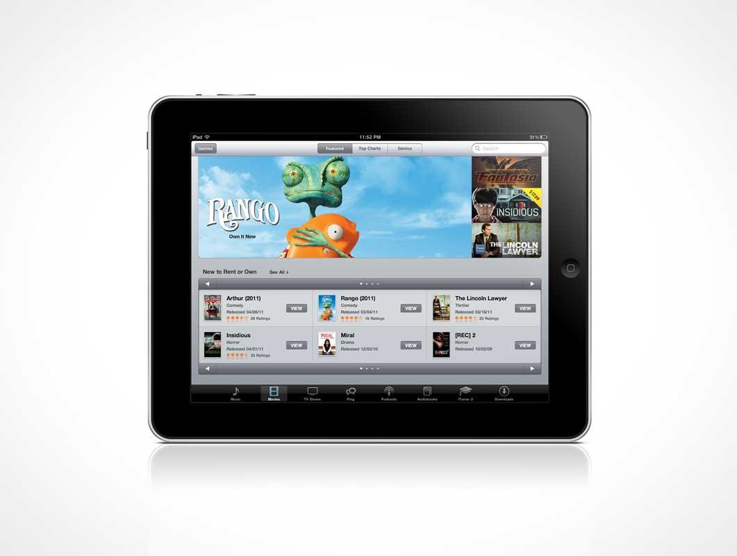 Classic iPad PSD Mockup Landscape Mode