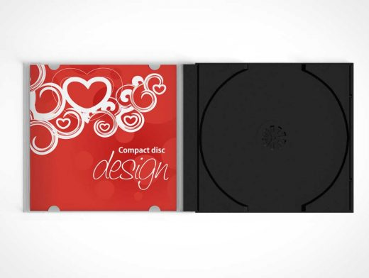 Compact Disk Jewel Case PSD Mockup
