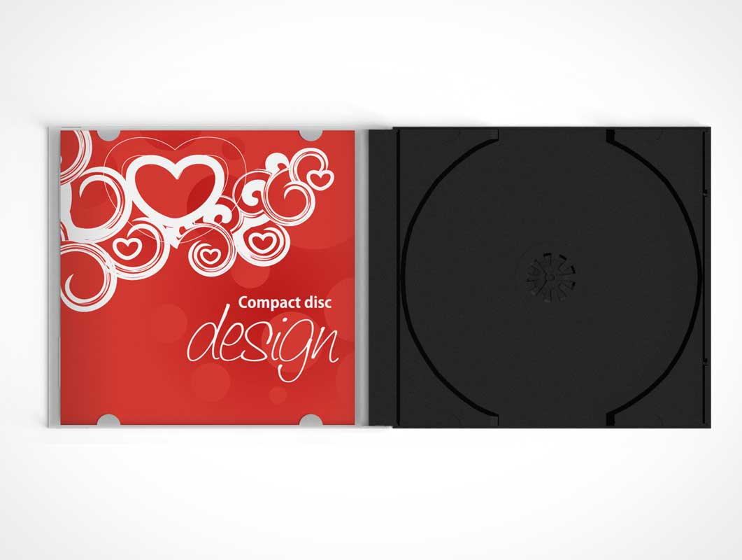 Compact Disk Jewel Case PSD Mockup