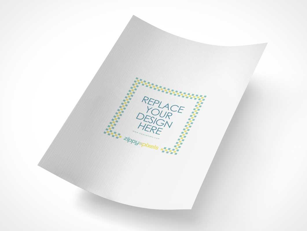 Customizable A4 Size Paper PSD Mockup