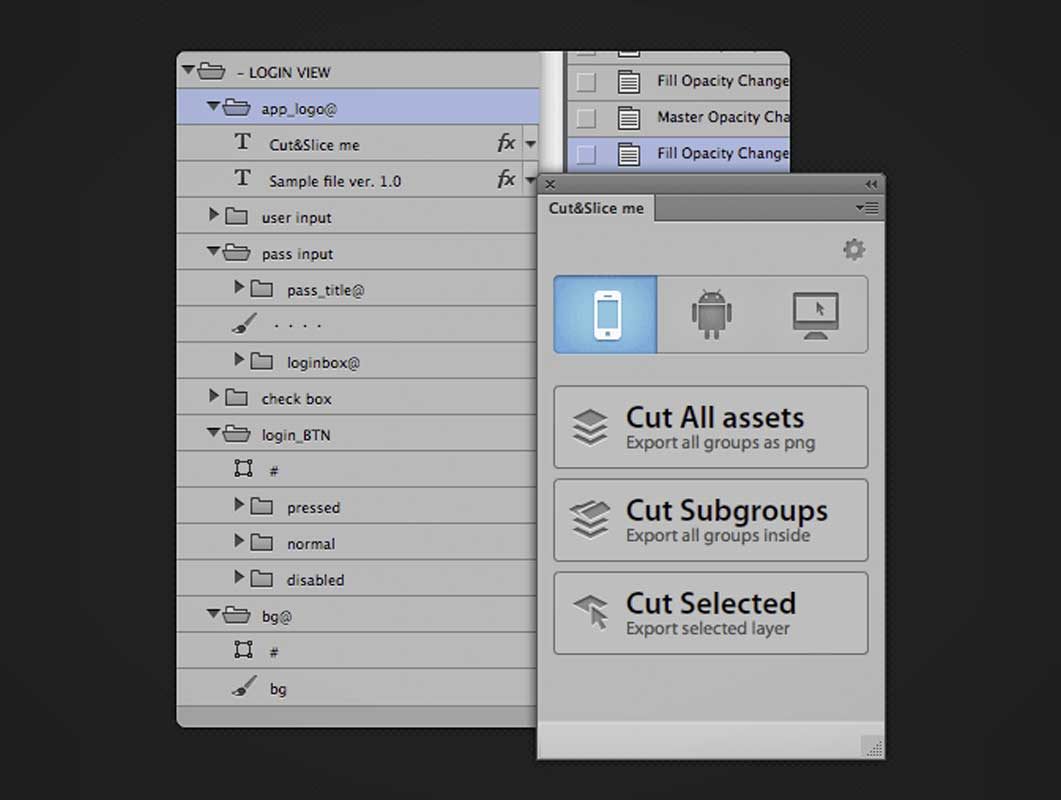 Cut&Slice Me: Export your assets to different devices in seconds