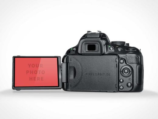 DSLR Camera Back PSD Mockup