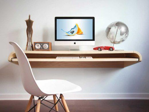 Floating Desk PSD Mockup