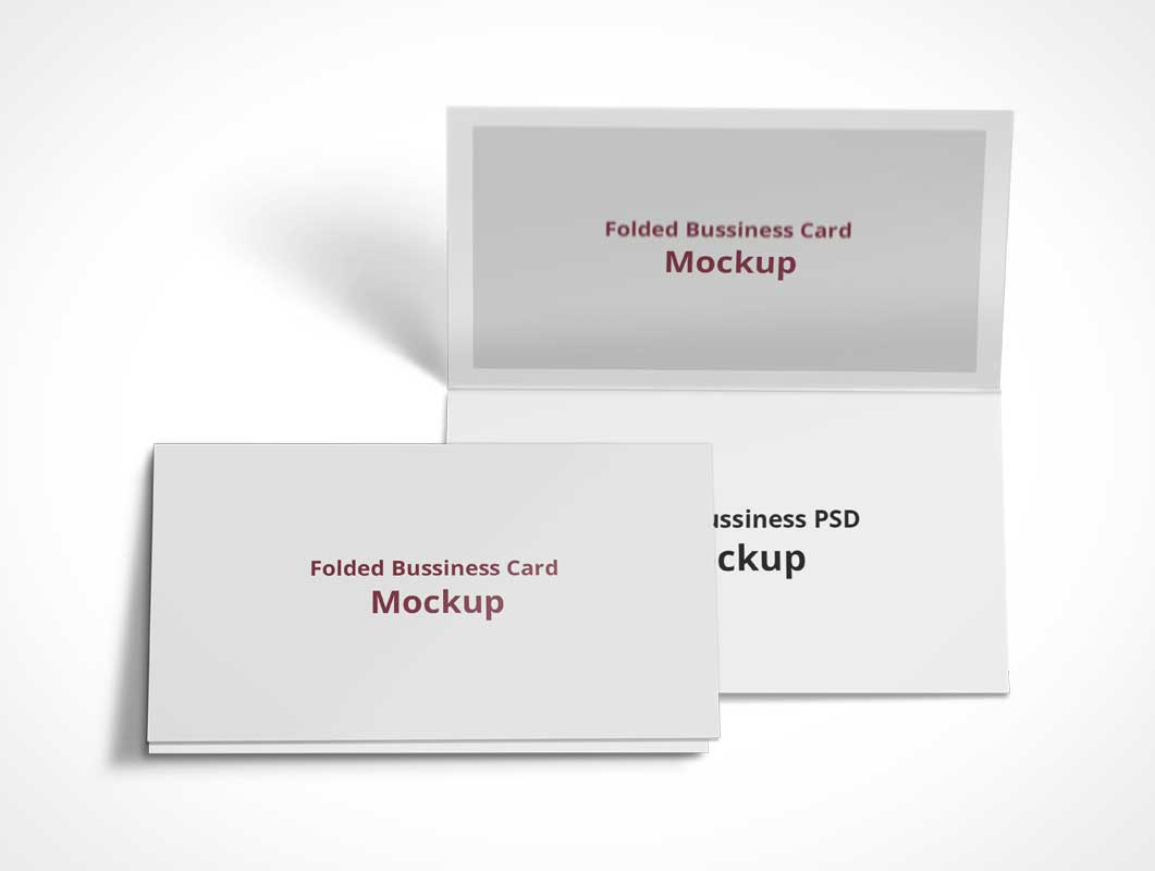 Folded Business Card PSD Mockup - PSD Mockups