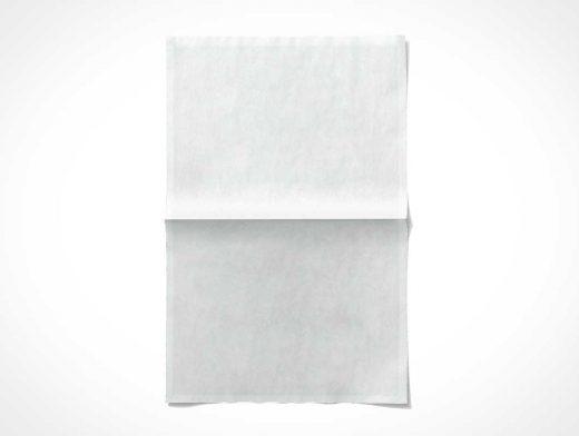 Folded Newsprint Paper Poster PSD Mockup