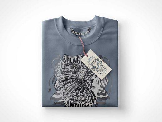 Folded Sweatshirt PSD Mockup