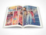 Graphic Novel Centrefold PSD Mockup