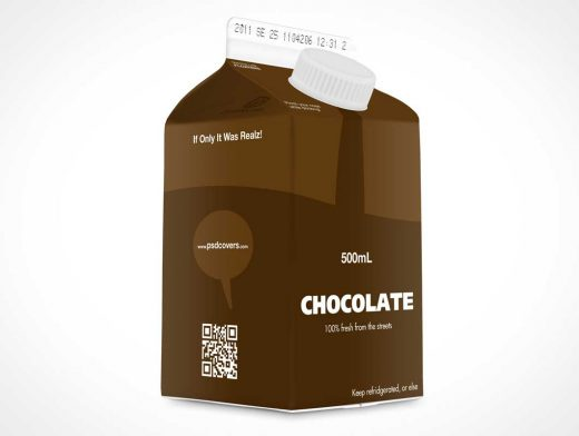 Half-Height Carton PSD Mockup